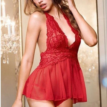 Hot Deal Cute On Sale See Through Lace Stretch Sexy Home Exotic Lingerie [6595494339]