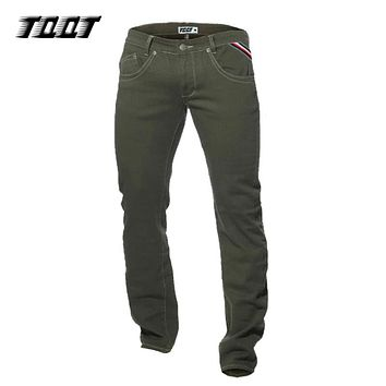 Winter full length pants straight material slim pants colored straight pants