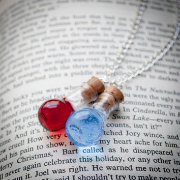 Health and Mana Potion Duo Necklace by RainbowDarkness on Etsy