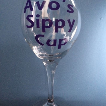 Avos Sippy Cup Portuguese Wine Glass, Personalized gifts, Personalized cups, grandmothers gifts, Portuguese gifts, grandma gifts