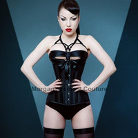 READY TO WEAR- 24 inch Back to Basics Longline underbust black corset