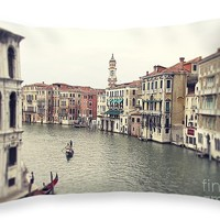 """Vintage photo of Venice Grand Canal Throw Pillow for Sale by Ivy Ho - 20"""" x 14"""""""