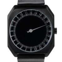 Leather Slow Watch - Black -15%