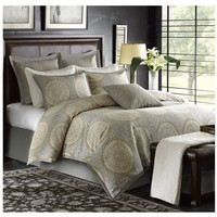 Hampton Taupe Medallion Comforter Set