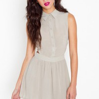 Waisted Silk Dress - NASTY GAL