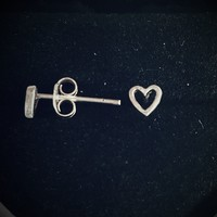 .925 Sterling Silver Open Heart Tiny Stud Earrings Baby and Ladies