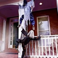 Life Size Climbing Zombie Hang On Tree Fence Porch Home Choose White Or Black