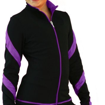 Chloe Noel Figure Skating Spiral Skate Jacket J36 Purple Child Extra Small