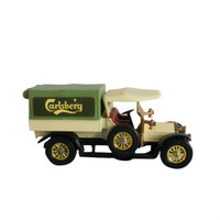 Vintage Matchbox Model Car Toy Models of Yesteryear - 1918 Crossley Delivery Truck Carlsberg Green - Made in England - 1973