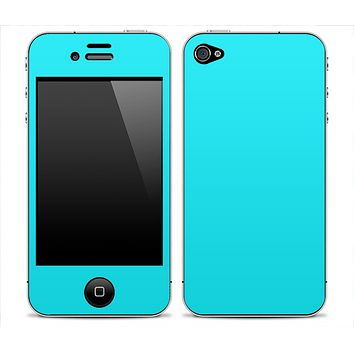 Solid Turquoise Skin for the iPhone 3gs, 4/4s or 5