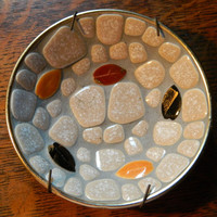 Modern Mosaic by Styson Art Products - Mid Century Ash Tray or Bowl - Falling Leaves