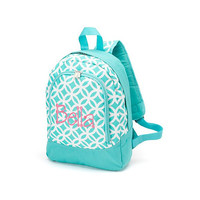 Monogrammed Preschool Backpack Aqua Sadie Geometric School Bookbag Toddler