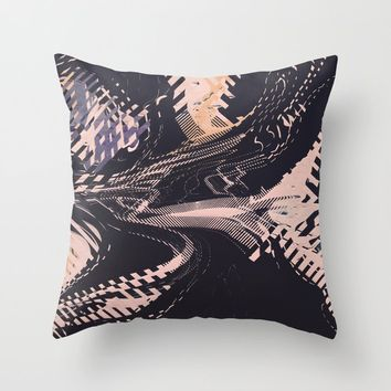 Static Throw Pillow by duckyb