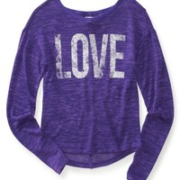 Love Knit Crew Sweater Tee