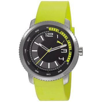 Puma PU103291003 Men's Overdride Black Dial Lime Green Rubber Strap Watch