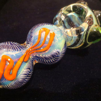 FREE 20 DOLLAR SPOON : Vortex Glass Pipe - Extra Thick & Heavy Pipe - Dichroic Tobacco Pipe - Inside Out - Tobacco - Pipe - Spoon - Boro