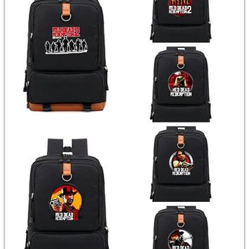 Hot game Red Dead: Redemption  mochila black Backpack for teenagers Darwin School shoulder bag travelling laptop bagpack