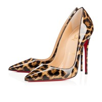So Kate 120mm Leopard Patent Leather