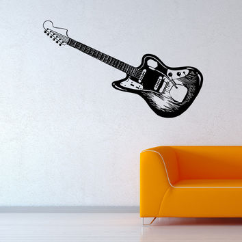 Vinyl Wall Decal Sticker Electric Guitar #OS_MB594