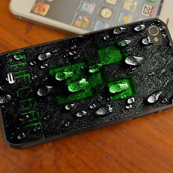 New Minecraft Creeper Face Dark iphone /4s/5/5C , samsung galaxy s3/s4 and ipod touch 4/5 cases
