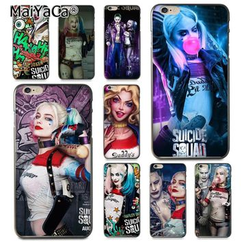 MaiYaCa Suicide Squad Harley Quinn Joker Movie Unique  Design phone case for Apple iPhone 8 7 6 6S Plus X 5 5S SE 5C Cover