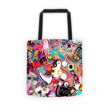Pink Collage Tote bag
