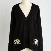 Skulls Mid-length Long Sleeve Jolly Roger That Cardigan