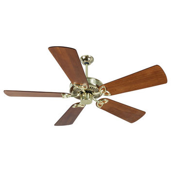 Craftmade K10979 CXL Polished Brass Ceiling Fan with 54-Inch Premier Distressed Teak Blades