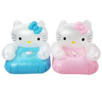 2 to 6 years old lovely portable cartoon Kt cat Hello Kit PVC inflatable sofa seat children toys for children40*40*42