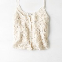 AEO Women's Crochet Button Cami