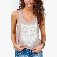A'GACI Textured Owl Patch Tank - TOPS
