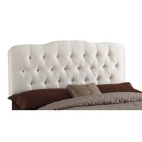 Skyline Furniture, Mfg. 742QShantungParch Tufted Arc Queen Headboard - Shantung Parchment