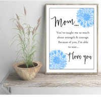mom art print birthday gift unframed mother wall art gift for mom