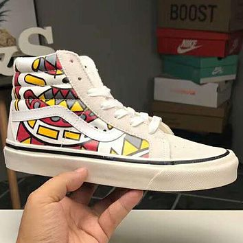 VANS SK8 HI 2018 new high-top men and women couples casual shoes F-CQ-YDX White