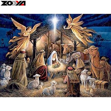 ZOOYA 5D DIY diamond embroidery Jesus was born diamond painting Cross Stitch full drill Rhinestone mosaic home decoration gift