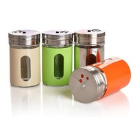 Multicolor Stainless Steel Spice Jars