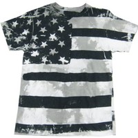 Frank Allover Black and White American Flag Shirt