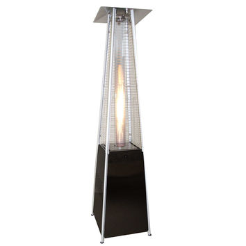 "NEW Clevr Home 89"" Propane Patio Heater Pyramid Tower Quartz Glass 40000BTUs"