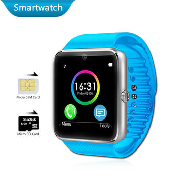 Android Watches Bluetooth Smart Electronics Phone Watch Waterproof Smartwatch GT08 SIM Card Health Sport GPS Tracker