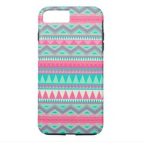 Colorful Aztec Chevron Zig Zag Stripe Pattern iPhone 7 Plus Case