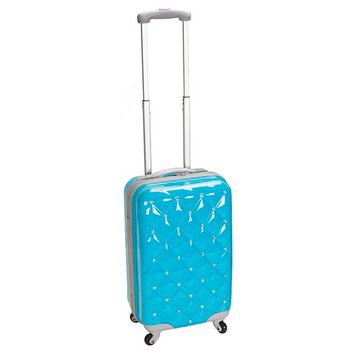 "Rockland Luggage Diamond Polycarbonate Carry On - Turquoise (20"")"