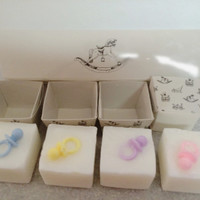 Baby Pacifier Soap Gift Set-4 Peice Set-Gentle Lavender-Favors-Showers-New Parents