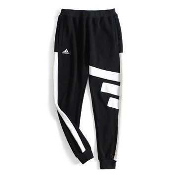 ADIDAS 2018 autumn and winter new retro color sports casual pants