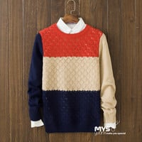 Casual Mens Comfortable Winter Warm Slim Fit Knit Sweater