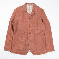 Kapital Red Linen French Work Jacket