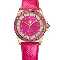 Stella Pink Embossed Leather Watch