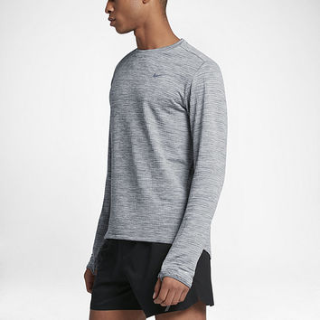The Nike Therma Sphere Element Men's Long Sleeve Running Top.