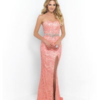 Blush 9923 Coral Pink Lace Sexy Embellished Dress 2015 Prom Dresses