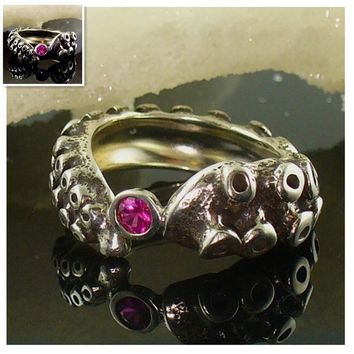 Drop Shipping Tentacle Ring  Band Octopus Ring Seductive Tentacle Ring in Ancient  Silver Plating Octopus  dallas cowboys rings