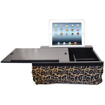 iCozy Portable Cushion Lap Desk With Storage - Leopard Black with Leopard